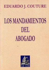 """Portada del libro """"Los mandamientos del abogado"""". Imagen recuperada de google imágenes."""