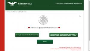 Página inicial del Semanario Judicial de la Federación.